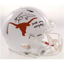 "Ricky Williams Signed Texas Longhorns Full-Size Speed Helmet Inscribed ""Smoke Weed Everyday!"" (JSA C"