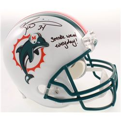 "Ricky Williams Signed Miami Dolphins Full-Size Helmet Inscribed ""Smoke Weed Everyday!"" (JSA COA)"