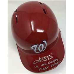 "Juan Soto Signed Washington Nationals LE Full-Size Batting Helmet Inscribed ""19 WS Champs""  ""Fight F"