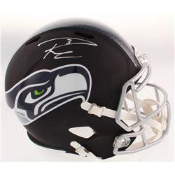 Russell Wilson Signed Seattle Seahawks Full-Size Matte Black Speed Helmet (Wilson COA)