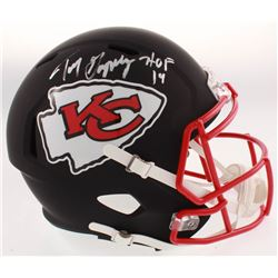 "Tony Gonzalez Signed Kansas City Chiefs Full-Size Matte Black Speed Helmet Inscribed ""HOF 19"" (Becke"