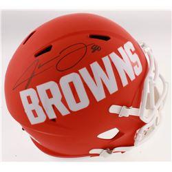 Jarvis Landry Signed Cleveland Browns Full-Size AMP Alternate Speed Helmet (JSA COA)