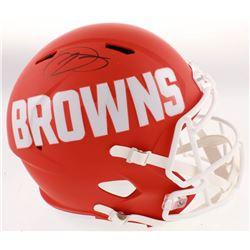 Odell Beckham Jr. Signed Cleveland Browns Full-Size AMP Alternate Speed Helmet (JSA COA)