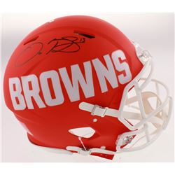 Odell Beckham Jr. Signed Cleveland Browns Full-Size Authentic On-Field AMP Alternate Speed Helmet (J