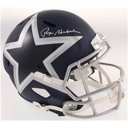 Roger Staubach Signed Dallas Cowboys Full-Size AMP Alternate Speed Helmet (Beckett COA)