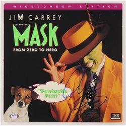 "Jim Carrey Signed ""The Mask"" Vinyl Record Album Cover (PSA COA)"