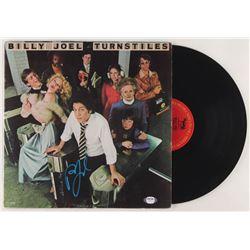 """Billy Joel Signed """"Turnstiles"""" Vinyl Record Album Cover (PSA COA)"""