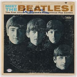 "Paul McCartney Signed The Beatles ""Meet the Beatles!"" Vinyl Record Album Cover (PSA LOA)"
