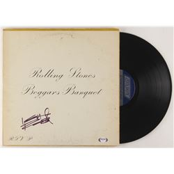 """Keith Richards Signed The Rolling Stones """"Beggars Banquet"""" Vinyl Record Album Cover (PSA LOA)"""