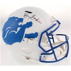 Barry Sanders Signed Detroit Lions Full-Size AMP Alternate Speed Helmet (JSA COA  Schwartz Sports CO