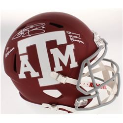 "Johnny Manziel Signed Texas AM Aggies Full-Size Speed Helmet Inscribed ""'12 Heisman""  ""Johnny F*****"