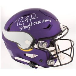 "Randy Moss Signed Minnesota Vikings Full-Size Authentic On-Field SpeedFlex Helmet Inscribed ""Straigh"