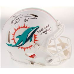 "Ricky Williams Signed Miami Dolphins Full-Size Authentic On-Field Speed Helmet Inscribed ""Smoke Weed"