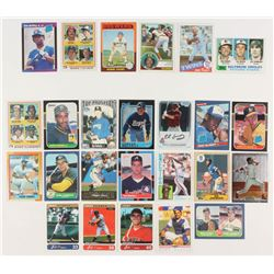 Lot of (25) Rookie Baseball Cards with 1975 Topps #223 Robin Yount, 1982 Topps #21 Bob Bonner RC / C