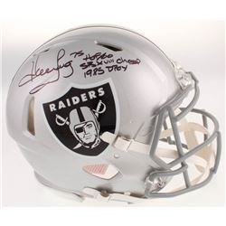 "Howie Long Signed Oakland Raiders Full-Size Authentic On-Field Speed Helmet Inscribed ""HOF 00"", ""SB"