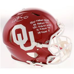 Kyler Murray Signed Oklahoma Sooners Full-Size Authentic On-Field Speed Helmet with (5) Career Stat