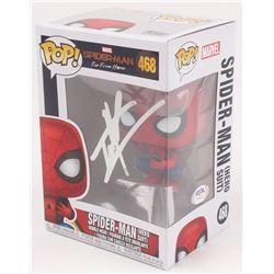 "Tom Holland Signed ""Spider-Man: Far From Home"" Spider-Man #468 Funko Pop Vinyl Figure (PSA COA)"