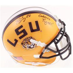 """Brad Wing Signed LSU Tigers Mini-Helmet Inscribed """"Geaux Tigers!"""" (JSA COA)"""