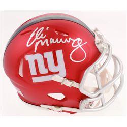 Eli Manning Signed New York Giants Blaze Speed Mini-Helmet (Fanatics Hologram)