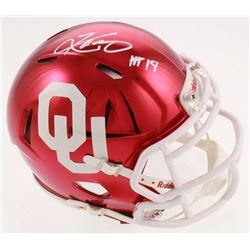 "Kyler Murray Signed Oklahoma Sooners Chrome Speed Mini-Helmet Inscribed ""HT 18"" (Beckett COA)"