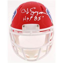 "O.J. Simpson Signed Buffalo Bills AMP Alternate Speed Mini-Helmet Inscribed ""H.O.F. 85'"" (Beckett CO"