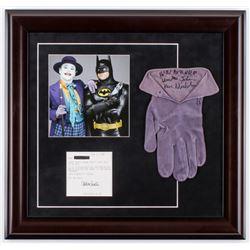 "Jack Nicholson Signed ""Batman"" 19.5x20.5 Custom Framed Screen-Worn Joker Glove Inscribed ""Ha! Ha! Ha"