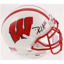 Derek Watt Signed Wisconsin Badgers Mini-Helmet (JSA COA)