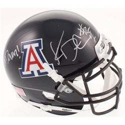 "Ka'Deem Carey Signed Arizona Wildcats Mini-Helmet Inscribed ""Bear Down!"" (JSA COA)"