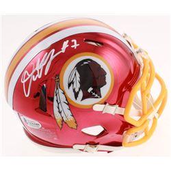 Dwayne Haskins Signed Washington Redskins Chrome Speed Mini-Helmet (Beckett COA)