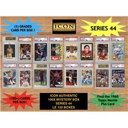 Icon Authentic 100x Series 44 Mystery Box (100+ Cards per Box)
