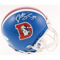 Champ Bailey Signed Denver Broncos Throwback Mini-Helmet (JSA COA)