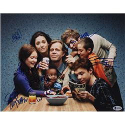 """""""Shameless"""" 11x14 Photo Cast-Signed by (6) with William H. Macy, Emmy Rossum, Jeremy Allen White, Ca"""