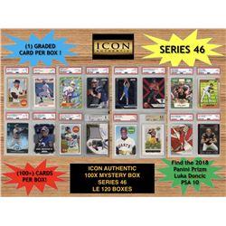 Icon Authentic 100x Series 46 Mystery Box (100+ Cards per Box)