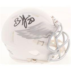 Brian Dawkins Signed Philadelphia Eagles White ICE Mini Speed Helmet (JSA COA)