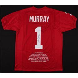 Kyler Murray Signed Career Highlight Stat Jersey (Beckett COA)