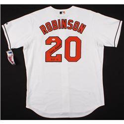 "Frank Robinson Signed Baltimore Orioles Jersey Inscribed ""HOF 82"" (JSA COA)"