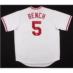 "Johnny Bench Signed Cincinnati Reds Jersey Inscribed ""HOF 89"" (JSA COA)"