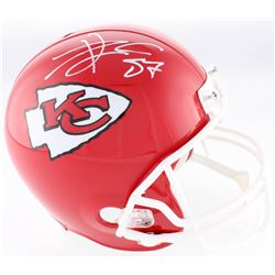 Travis Kelce Signed Kansas City Chiefs Full-Size Helmet (JSA COA)