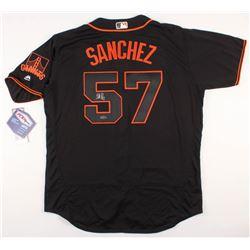 Jonathan Sanchez Signed San Francisco Giants Jersey (TriStar Hologram)