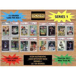Icon Authentic 250x Series 1 Mystery Box (250+ Cards per Box)