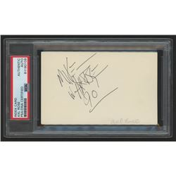 """Axl Rose Signed 3x5 Index Card Inscribed """"90"""" (PSA Encapsulated)"""