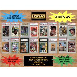 Icon Authentic 100x Series 45 Mystery Box (100+ Cards per Box)