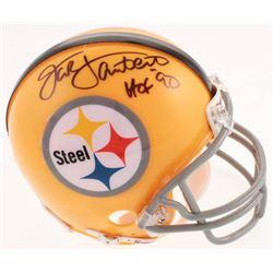 "Jack Lambert Signed Pittsburgh Steelers Mini Helmet Inscribed ""HOF '90"" (Beckett COA)"