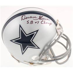 "Duane Thomas Signed Dallas Cowboys Mini Helmet Inscribed ""SB VI Champs"" (Jersey Source COA)"