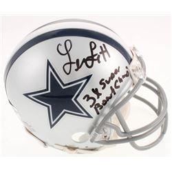 "Leon Lett Signed Dallas Cowboys Mini Helmet Inscribed ""3x Super Bowl Champs!"" (Jersey Source Hologra"