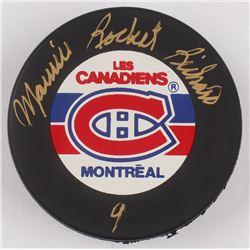 "Maurice ""Rocket"" Richard Signed Montreal Canadiens Logo Hockey Puck (Beckett COA)"