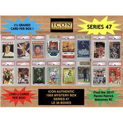 Icon Authentic 100x Series 47 Mystery Box (100+ Cards per Box)