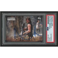 Norman Reedus Signed 2017 The Walking Dead Evolution #20 Daryl Dixon (PSA Encapsulated)