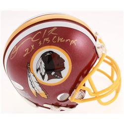 "Gary Clark Signed Washington Redskins Mini Helmet Inscribed ""2x SB Champs"" (JSA COA)"