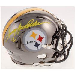 Terry Bradshaw Signed Pittsburgh Steelers Chrome Speed Mini Helmet (Beckett COA  Bradshaw Hologram)